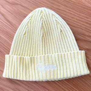 Supreme bleached yellow beanie